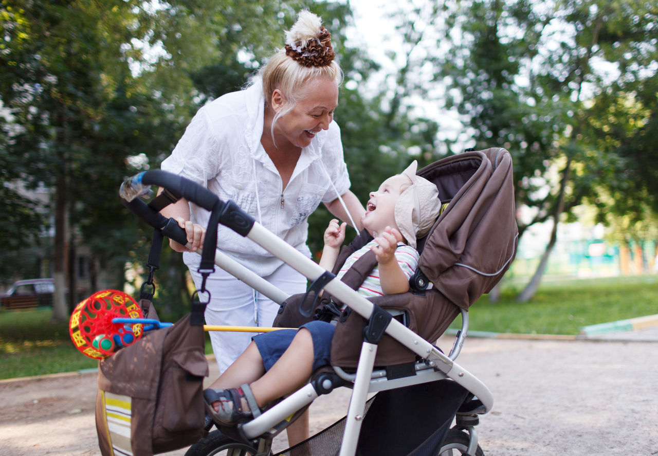 Beautiful stock photos of granny,  25-29 Years,  60-64 Years,  Aging Process,  Baby Carriage