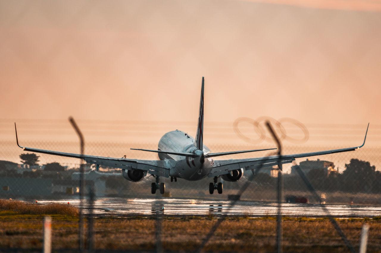 Flying into Calgary