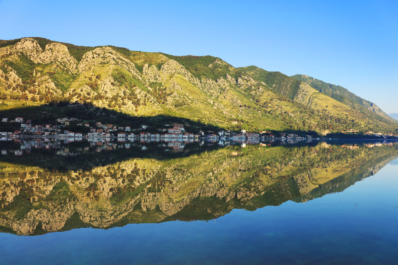 Canon Bay Beauty In Nature Day Europe Fjord Kotor Kotor, Montenegro Landscape Landscape_Collection Landscape_photography Montenegro Nature Outdoors Reflexions Water Réflexion Scenics Travel Travel Destinations Travel Photography Water