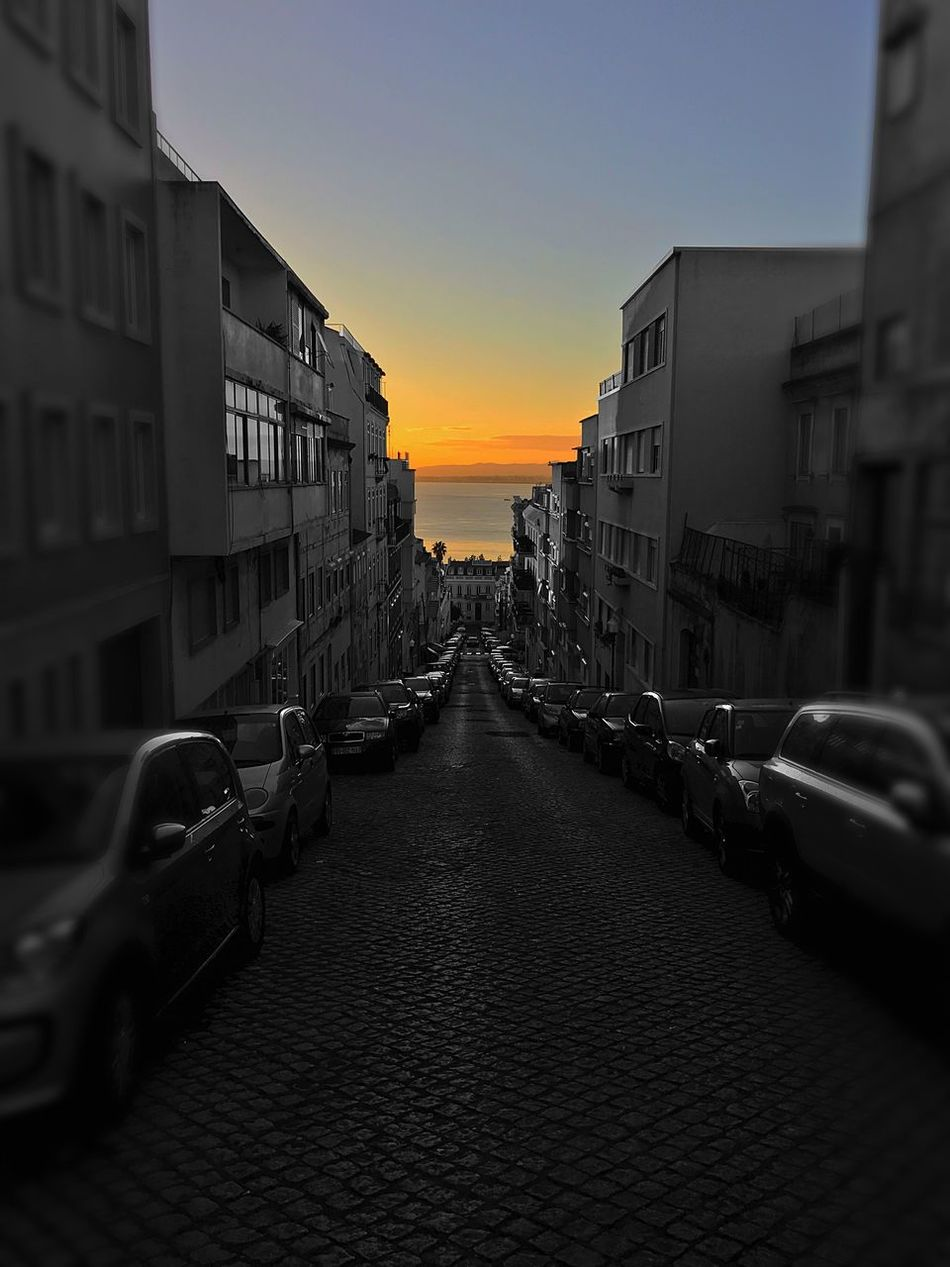 Mornin' Lisbon Embrace Urban Life Building Exterior Architecture Sunrise City Sky Outdoors Day Sunset Built Structure The Way Forward No People