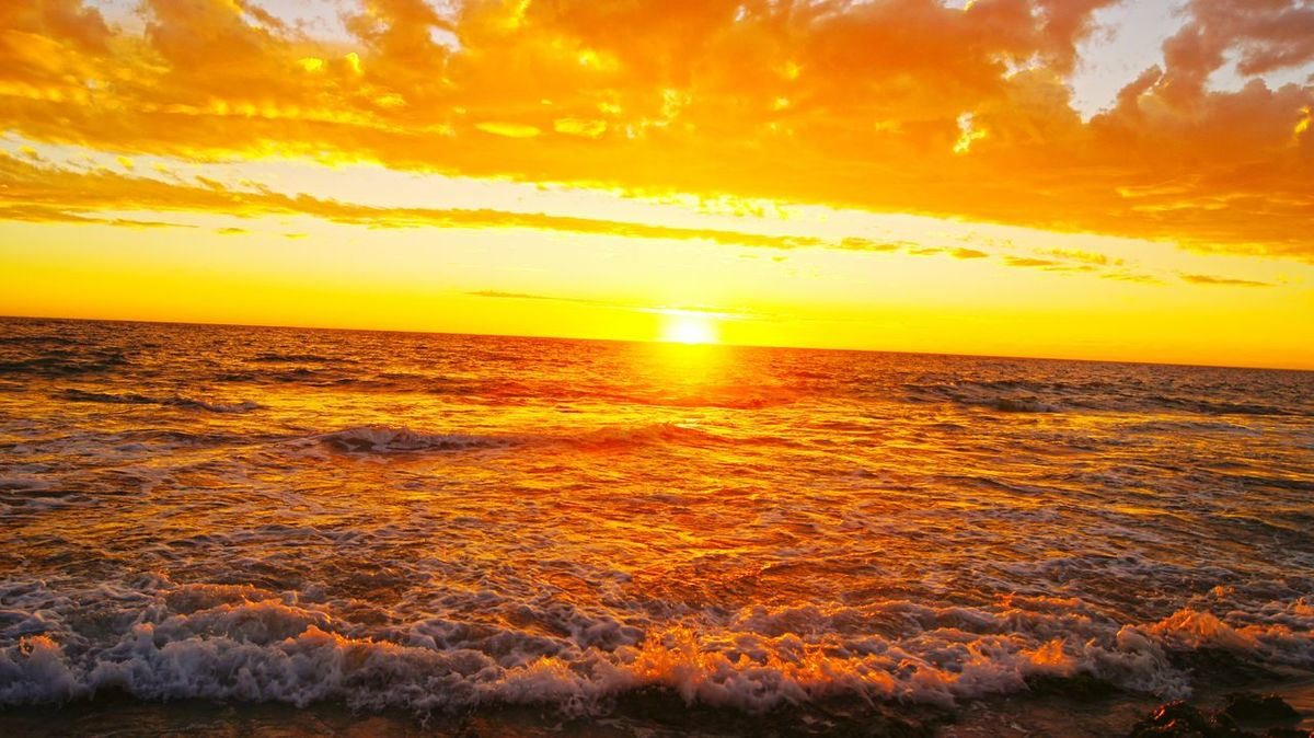Ocean Waves Australia Fireysky Beach Sunset Seaside Summer Burns Beach Western Australia WA Perth Nature Photography Nature_collection Splash Sunset_collection Sky Lovers Beach Photography Beach Lover Skyporn Showcase: February