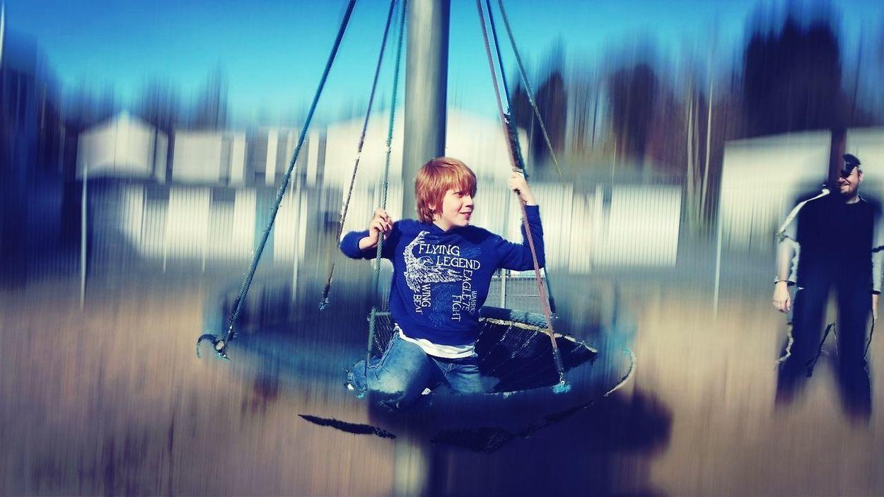 Action Shot  Playground Motion Having Fun Capturing Movement