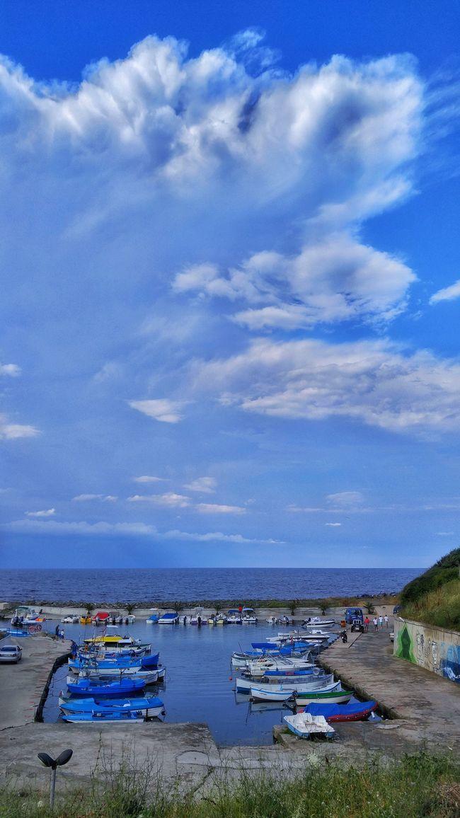 Nautical Vessel Group Of Objects Sky Cloud Tranquility Sea Cloud - Sky Blue Coastline Cloudscape Boat Lozenets Bulgaria Bay Landscape Summer Horizon Over Water Horizon