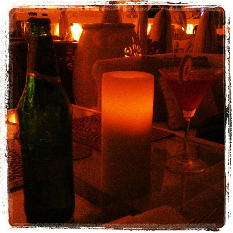 Carlsberg, candle and cosmopolitan