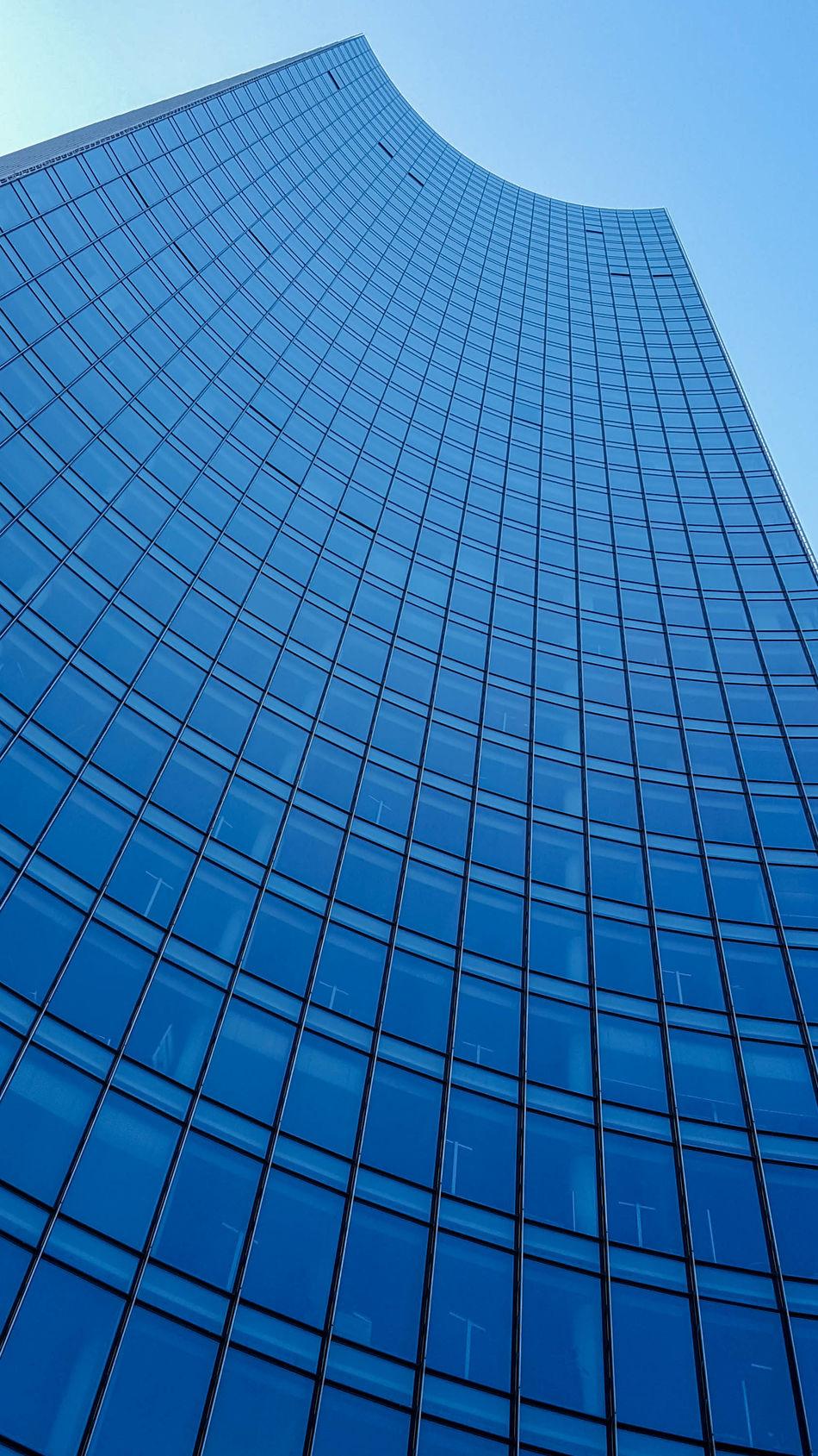 Architecture Bank Bankfurt Building Exterior Built Structure City Clear Sky Day EyeEm Frankfurt Frankfurt Am Main Hochhaus Low Angle View Modern No People Outdoors Pupparazzi Skyline Skyline Frankfurt Skyscraper Windows Minimalist Architecture
