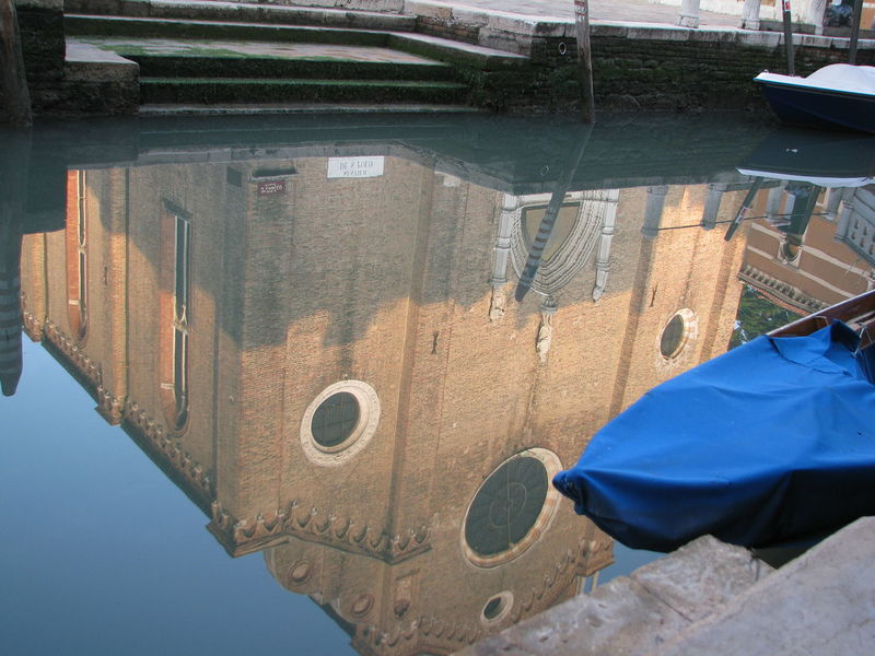 """reflection of the church """"Santa Maria Glorioso dei Frari"""" Architecture Canal Church House Mirror No People Reflection Santa Maria Gloriosa Dei Frari Silence Steps Structure Tranquility Venice, Italy Water"""