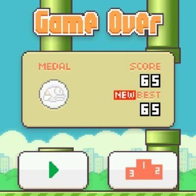 Me tienes engachado juego ql jajajaj! Flappybird Game Newgame  Gameover juego funny instagame instabird