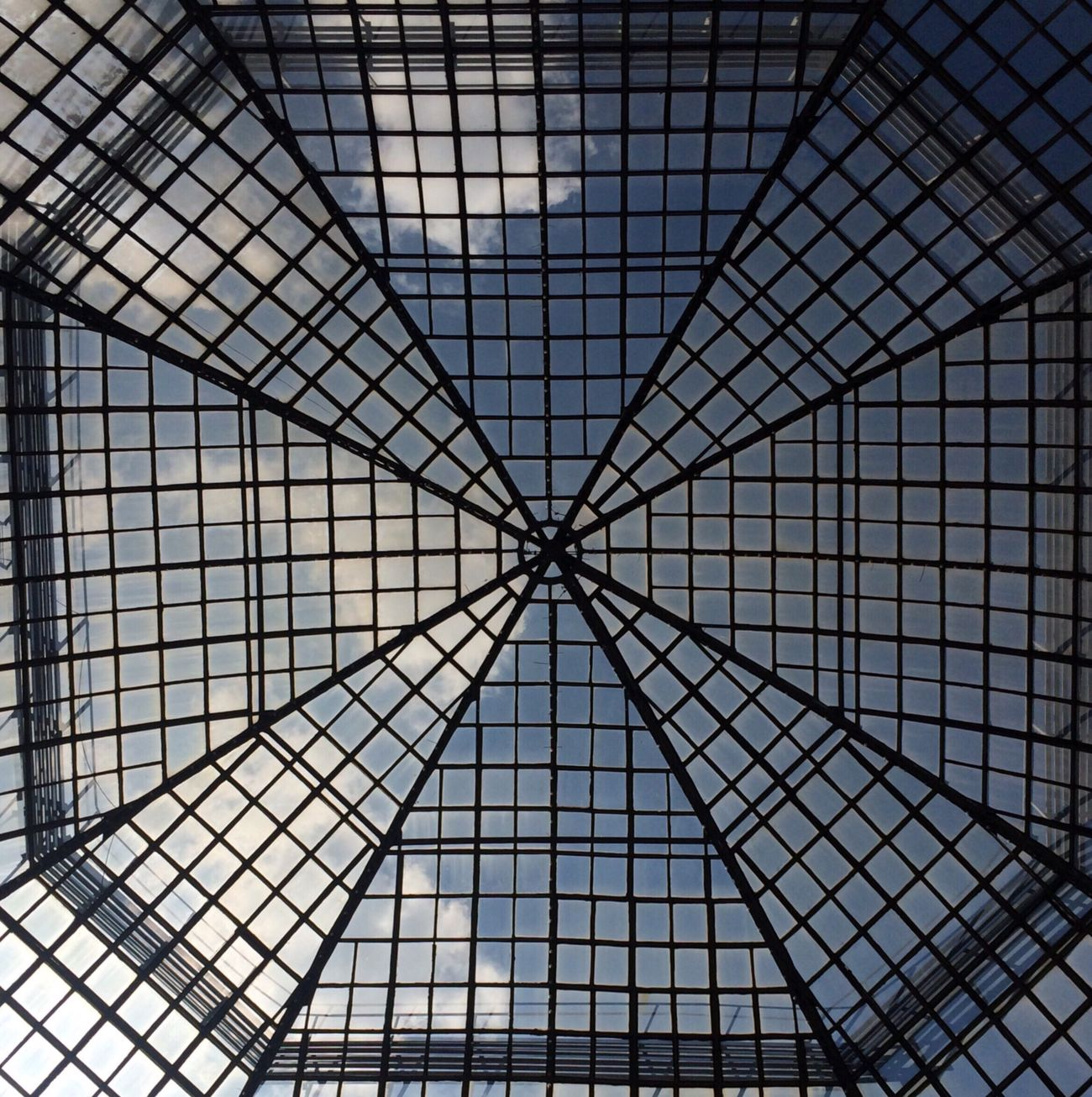 Indoors  Ceiling Roof Architecture No People Modern Low Angle View Sky Built Structure Skylight Russia Moscow Urban Geometry Geometric Shape Minimalism Shopping Mall Underground Architectural Feature Backgrounds Full Frame Pattern Day Close-up