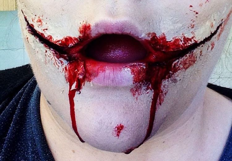 Horrormakup Positivity Make Up Sfxmakeup Sfx Gore Blood Makeupartist Ripped Open Gash Wound Proud EyeEm Best Shots Passion Chelseasmile Wounds Joker Art