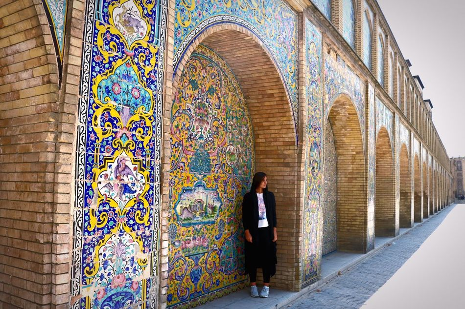 Architecture Built Structure Mosaic Person Multi Colored Creativity Iran Tehran Travel Travel Photography Canon Tranquility Culture Kakhe Golestan