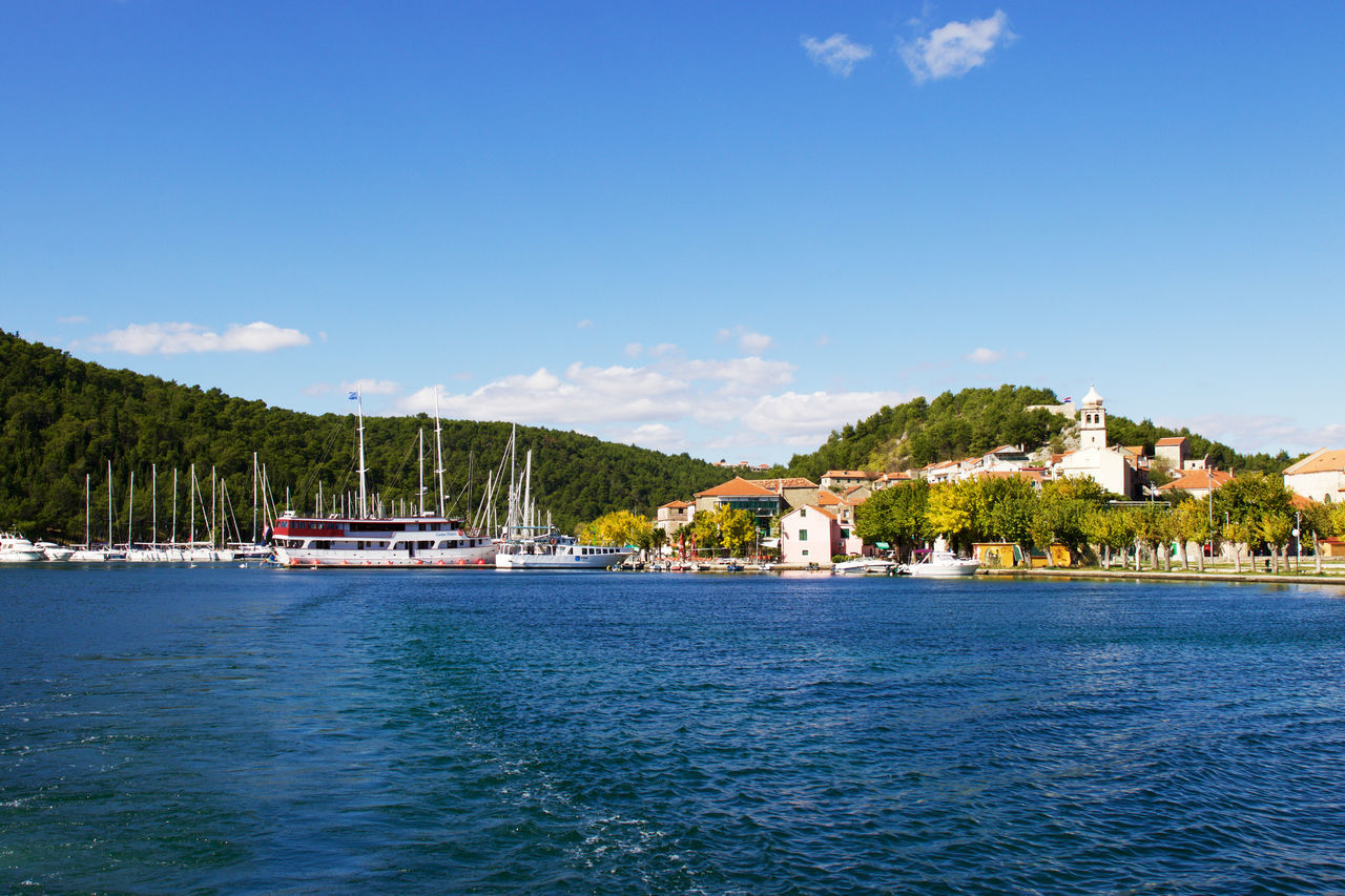 """""""Sailing takes me away to where I've always heard it could be Just a dream and the wind to carry me And soon I will be free"""" Beauty In Nature Blue Clear Sky Croatia Landscape Nautical Vessel Sailboat Sailing Sea Sea And Sky Sea View Seascape Seaside Skradin Sky Sunny Tranquil Scene Tranquility Travel Travel Destinations Travel Photography Traveling Travelling Water My Year My View Finding New Frontiers Miles Away"""