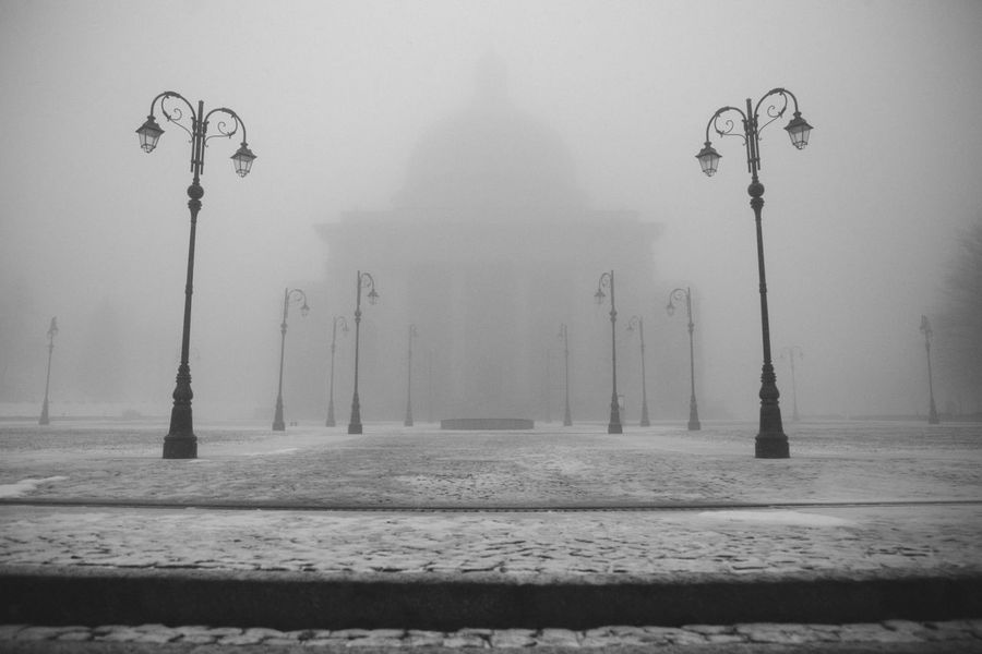 Mystical Fog. Winter No People Snow Cold Temperature Street Light Day Outdoors Nature Tree Sky Fog Mystical Atmosphere Oropa EyeEm Eye4photography  Beauty In Nature Tranquility Picoftheday Nopeople The Secret Spaces Place Of Heart The Architect - 2017 EyeEm Awards