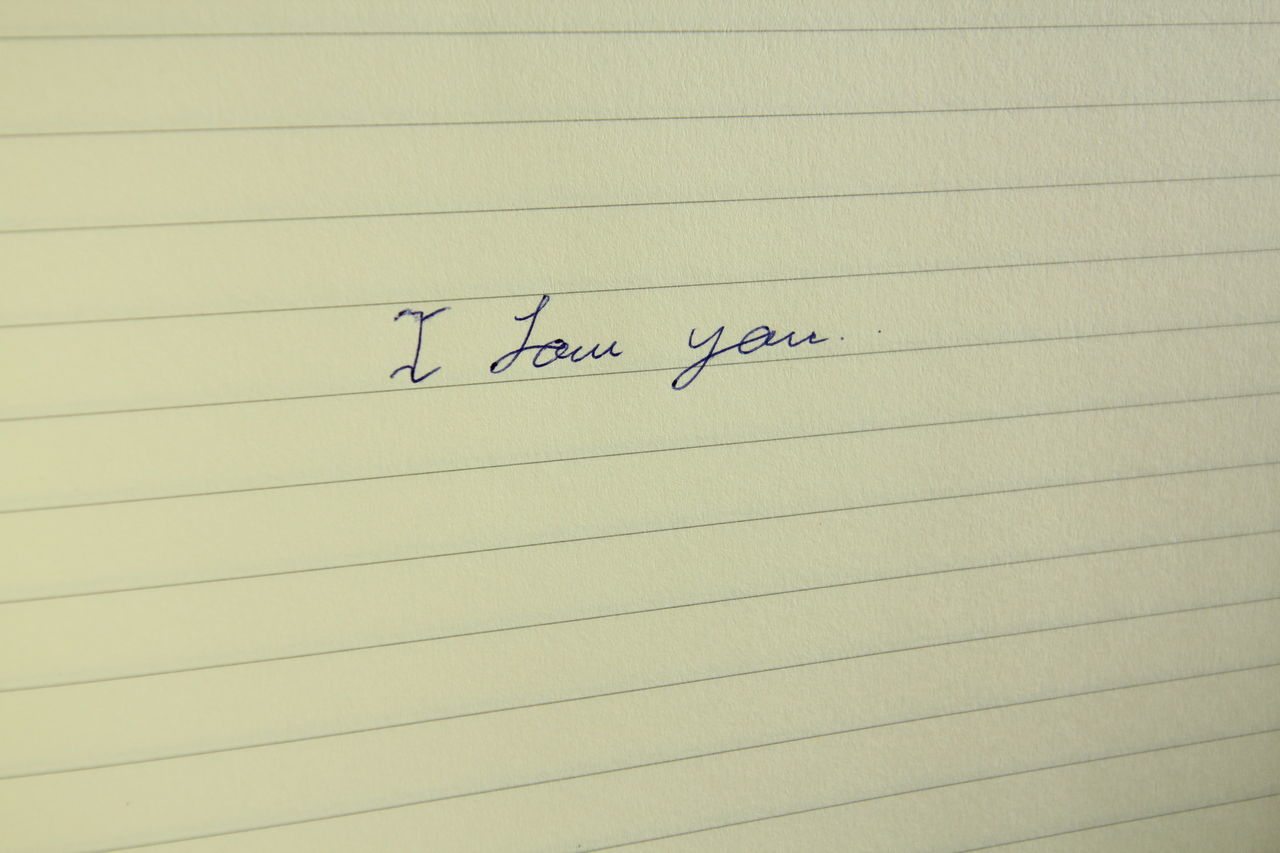 paper, text, communication, lined paper, no people, close-up, indoors, day, ink