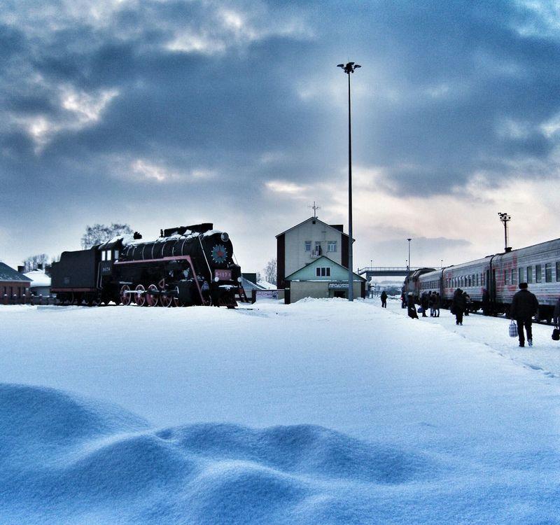 Barnaul railway station and a train museum Train Travel Siberia EyeEmRussianTeam Streamzoofamily ItsColdOutside
