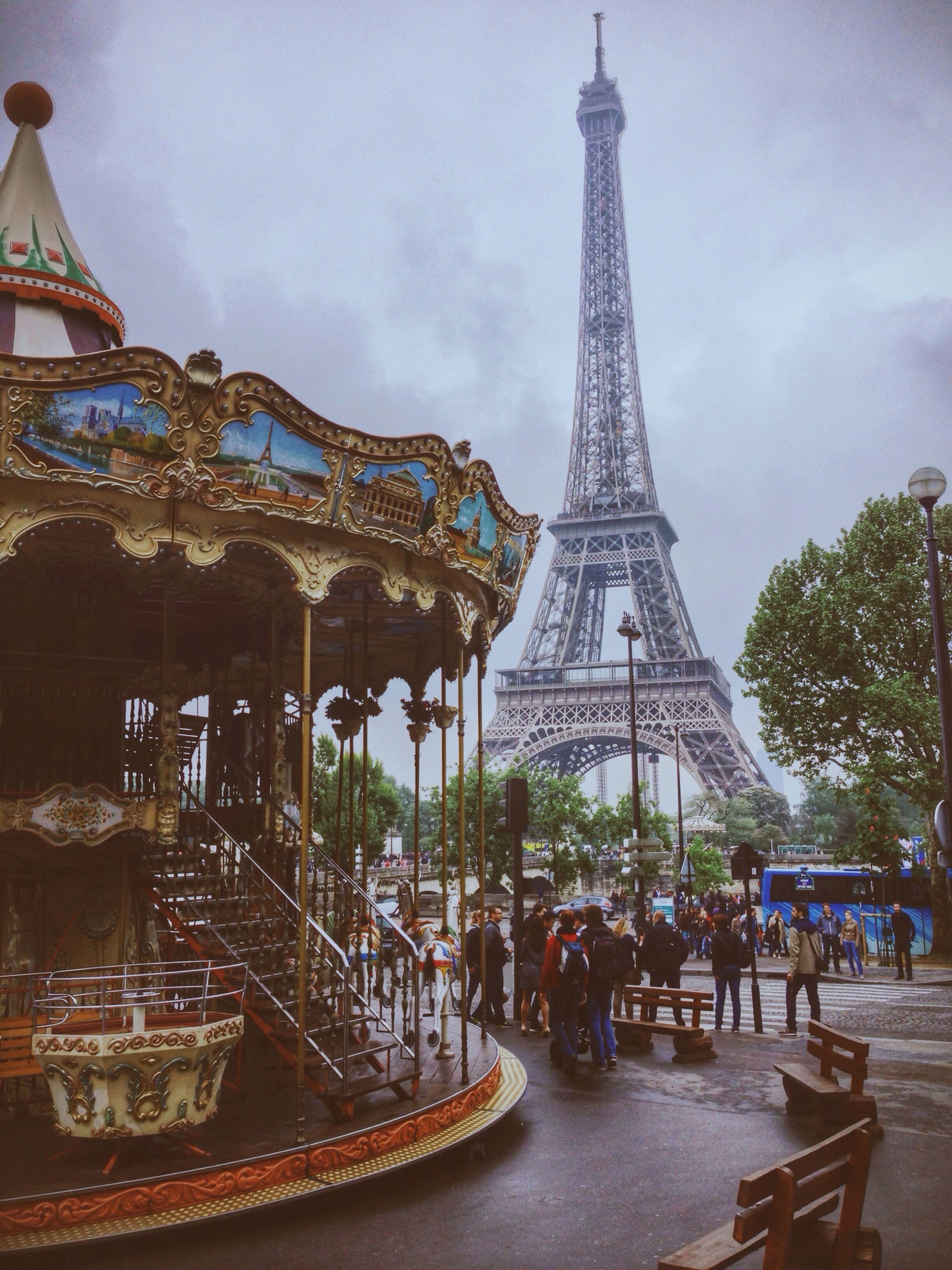 Tour Eiffel Paris France Clouds And Sky