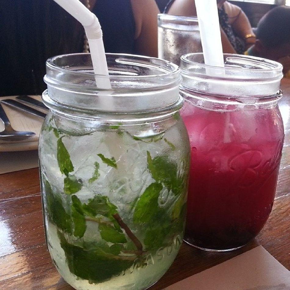 Definite must try: Mint Lemonade & Blueberry Lemonade at BourbonStBistro