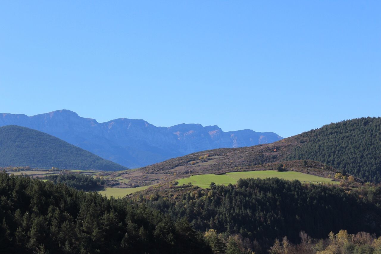 Mountain Copy Space Scenics Mountain Range Nature Beauty In Nature Landscape Clear Sky Tranquility Blue Tranquil Scene Outdoors No People Tree Day Sky Gironamenamora Girona Tranquility SPAIN