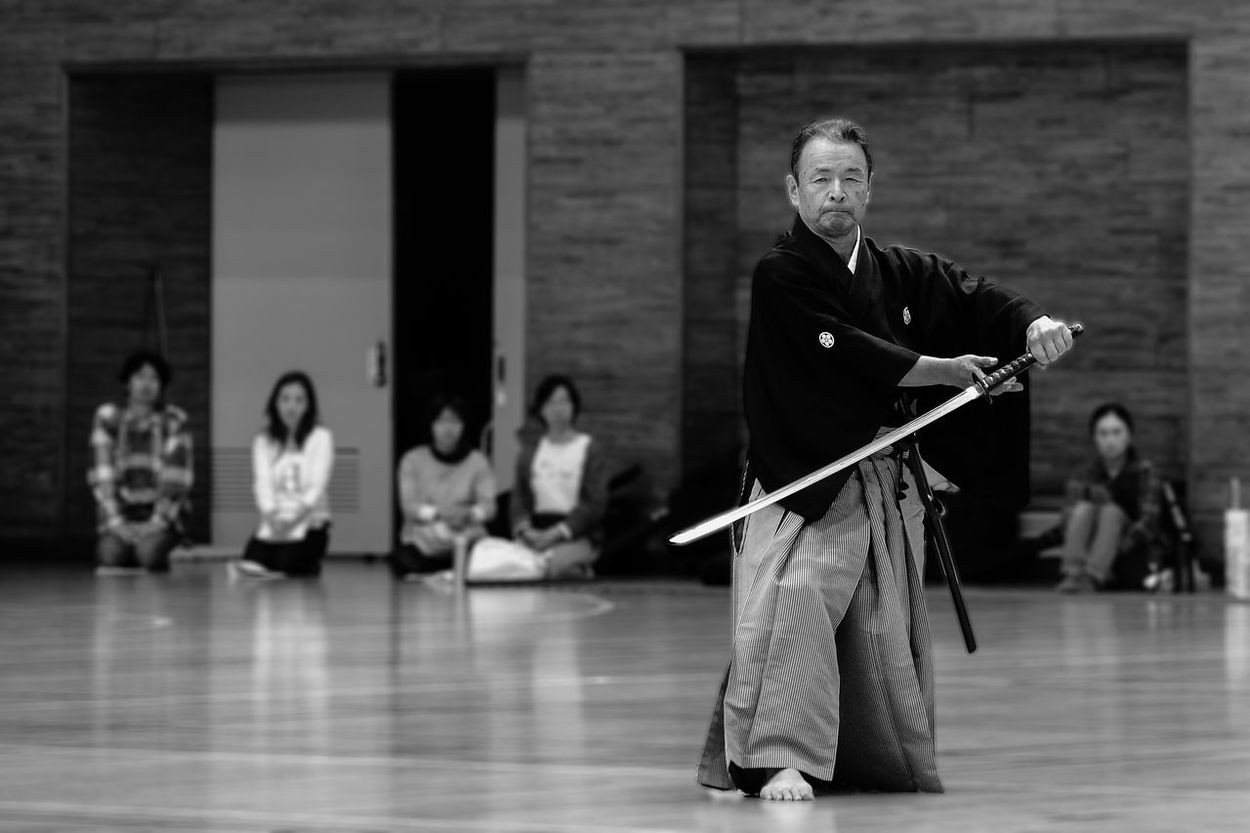 Black & White Black And White Black&white Blackandwhite Blackandwhite Photography Budo Exhibition Iaido Indoors  Japanese Culture Kendo Men Portrait Sport Sports Sports Photography The Portraitist - 2016 EyeEm Awards