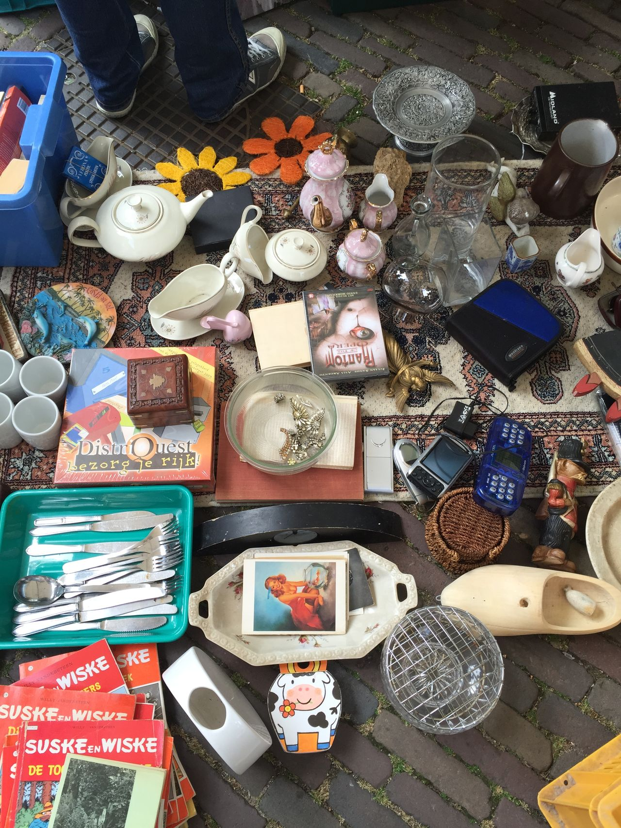 Another Man's Treasure at the Monday Market Jordaan Amsterdamcity Flea Market Fleamarketfinds
