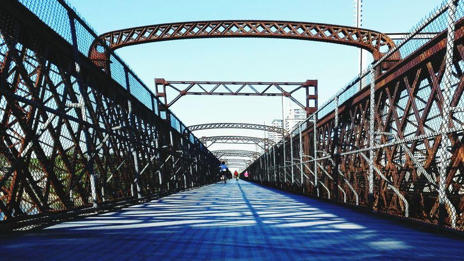 May Devilsrun group running at Bicentennialpark passing through 3 bridges by FeBird
