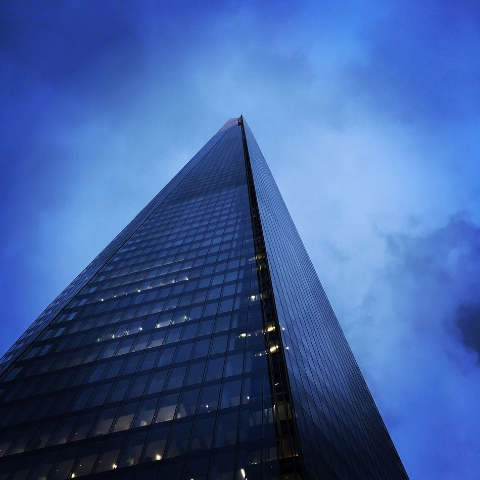 Moody shard Architecture Built Structure Building Exterior Sky Low Angle View Skyscraper No People Tall