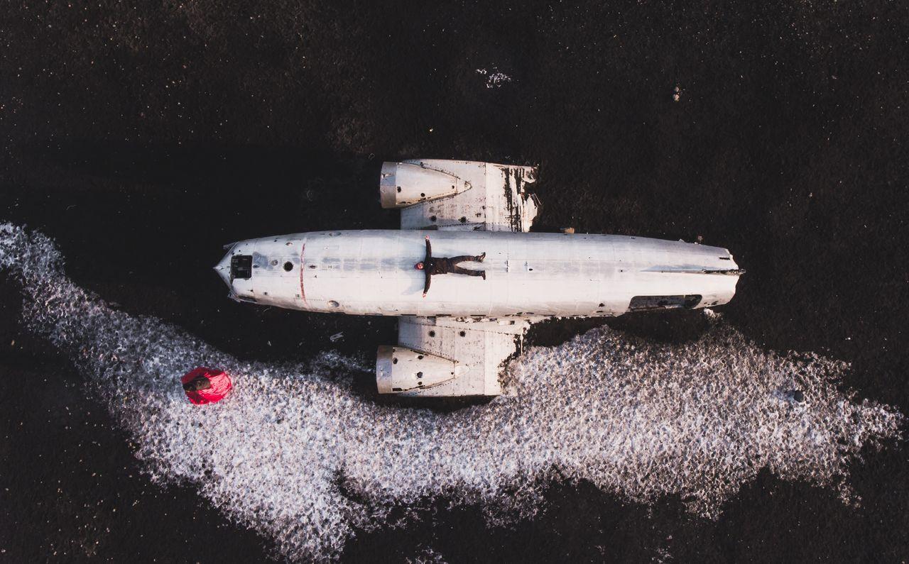 DC-3 Plane Wreckage, Iceland | Drone, Phantom4 Plane Plane Wreckage DC-3 Iceland Iceland_collection Drone  Phantom 4 Aerial Shot Aerial Photography Aeroplane Abandoned Abandoned Plane Crash One Person Day Outdoors One Man Only Beach The Great Outdoors - 2017 EyeEm Awards EyeEmNewHere Fresh On Market 2017
