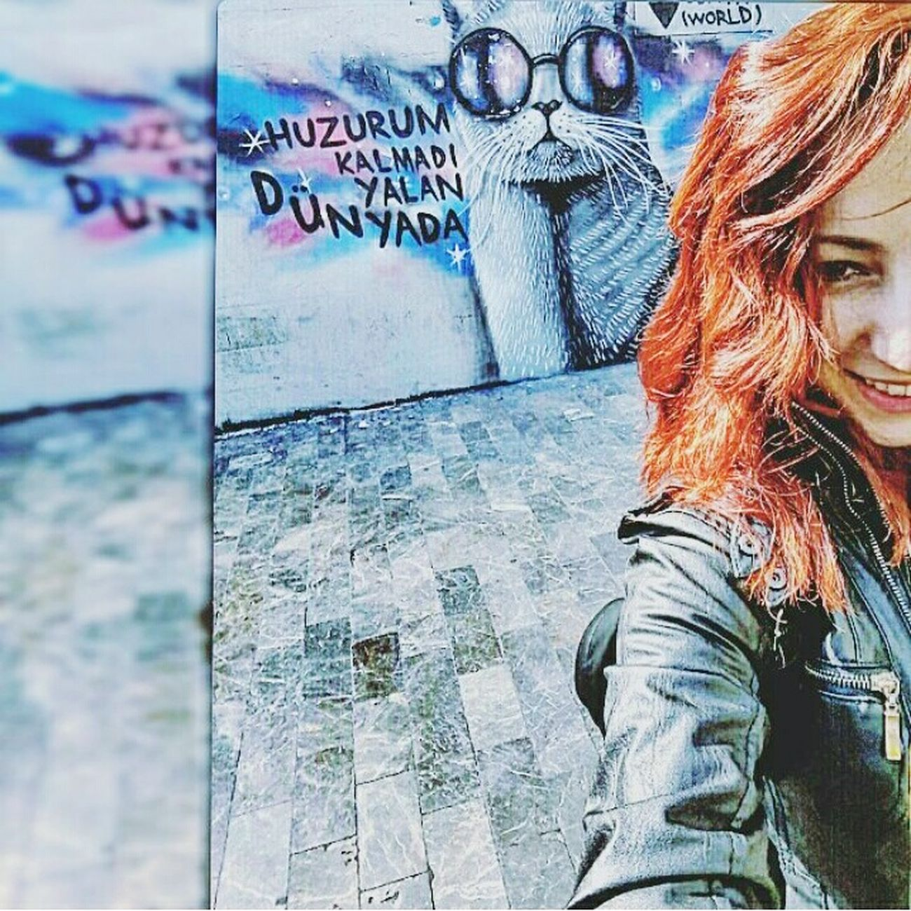 Graffiti Sokaktahayatvar Sokakkedisi Sokakfotografi Streetphotography Duvaryazıları  Istanbuldayasam Istanbullovers Istanbul City Self Portrait Smile ✌ Beauty Pretty EyeEm Picoftheday Myself Beautiful Pic EyeEm Gallery
