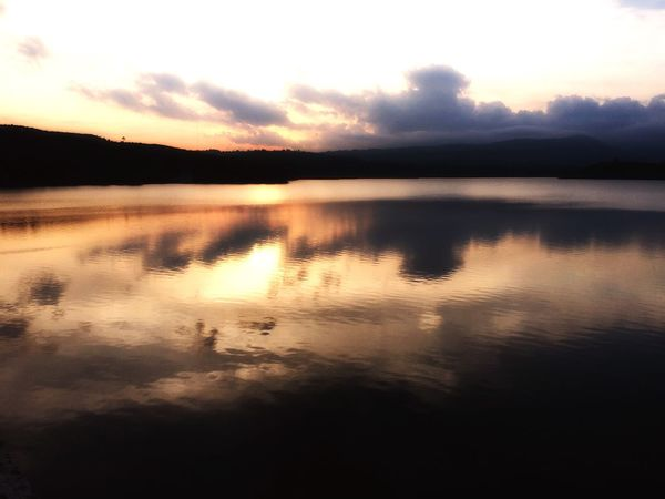 Sky Sunset Reflection Water Scenics Nature Tranquil Scene Tranquility Beauty In Nature Lake No People Outdoors Mountain Cloud - Sky