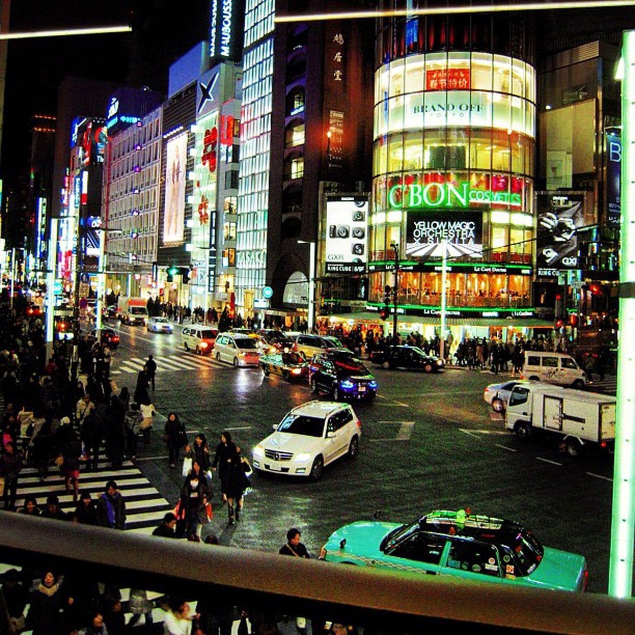 View from Laduree patisserie in Mitsukoshi Ginza Japan 2011
