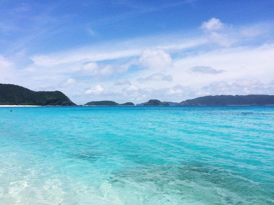 blue sky sea okinawa