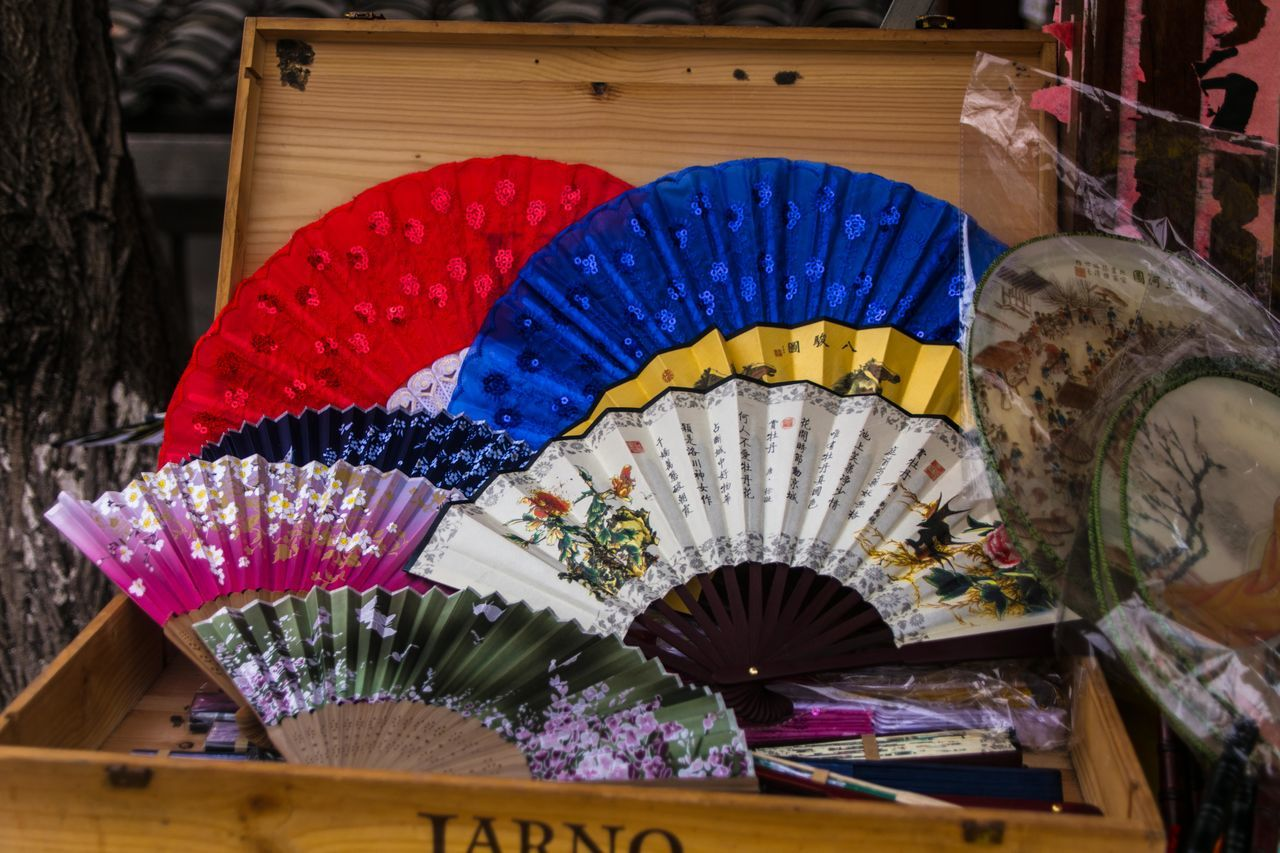 Chinese Fan Close-up Color Colorful Colors Fan Multi Colored No People Shop