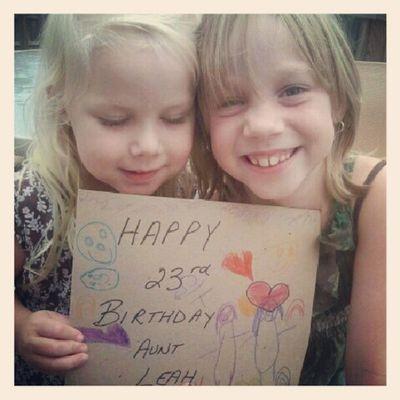 Probably the best presents Liz has ever gotten me!!! Nieces Babies Birthdaycard LoveThem