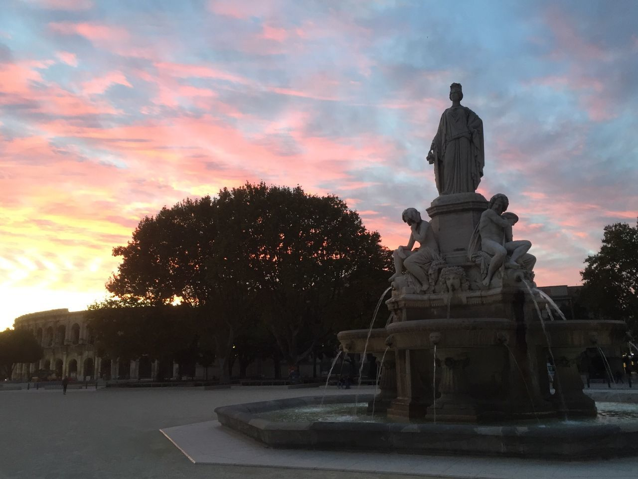 Statue Sculpture Human Representation Art And Craft Tree Art Sky Creativity Orange Color Cloud Outdoors Park Monument Pedestal Cloud - Sky Memories Majestic France Occitanie Gard Nîmes
