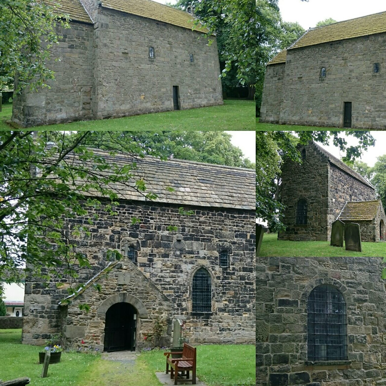Collage of Escomb Saxon Church Historical Building History Through The Lens  Photography Historical Place Historic Anglo-saxon Saxon Streamzoofamily Collage