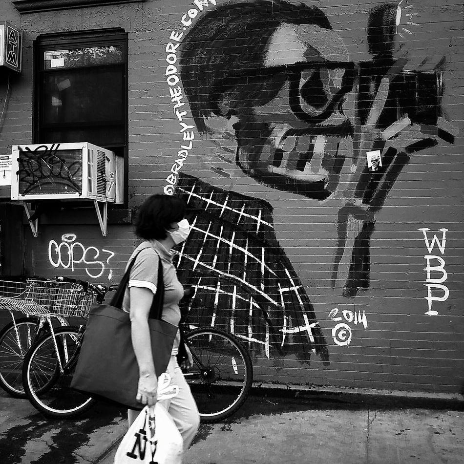 Lower East Side Newyorkcity Blackandwhitephotography The Street Photographer - 2015 EyeEm Awards EyeEm Best Shots - Black + White Black And White Streetphotography Streetphoto_bw Street Art Blackandwhite Photography Street Protography
