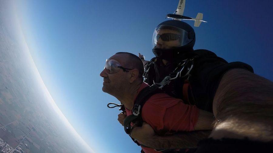 Adrenalina Aire Aire Libre Aventura Cielo Libre Paracaidas Salto