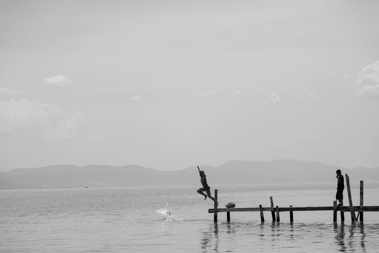 Beautiful stock photos of mexiko, water, men, real people, sea