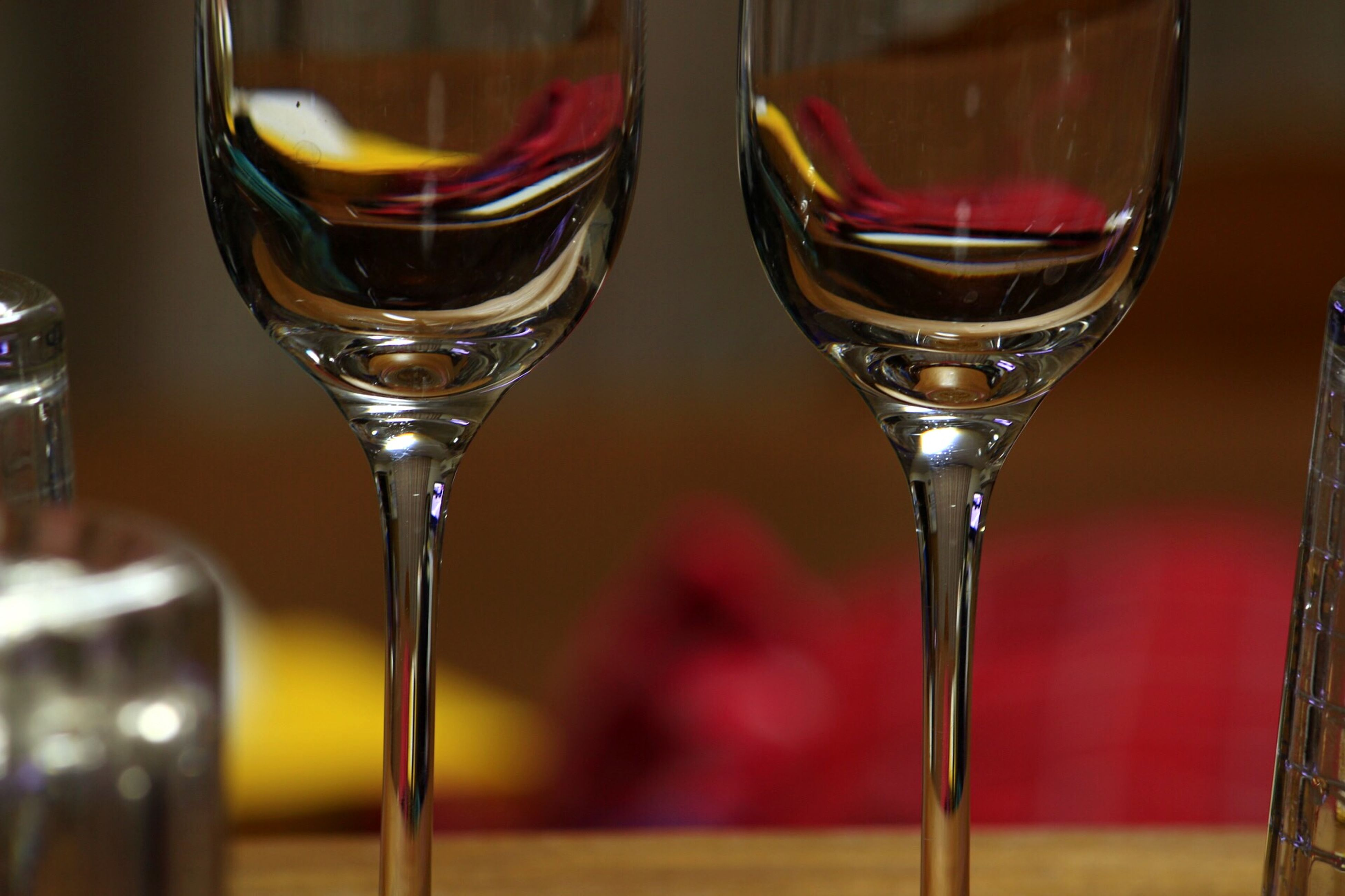 indoors, drink, glass - material, drinking glass, food and drink, transparent, table, refreshment, still life, wineglass, close-up, alcohol, focus on foreground, glass, wine, freshness, restaurant, red, no people, selective focus