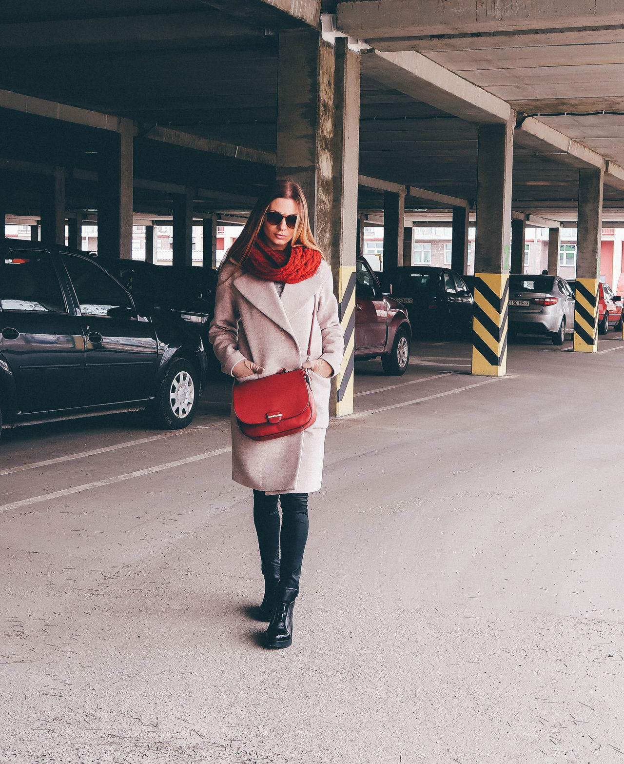 Young stylish woman on the street Accesories Adult Coat Fashion Filter Instagram Lookbook Minimalism Model One Person Only Women Portrait Street Style Streetphotography Stylish Urban Style Women