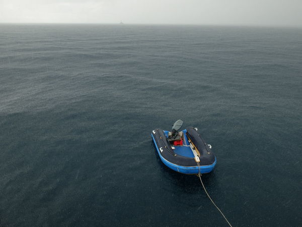 Adult Adventure Aerial View Andaman Sea Beauty In Nature Day Dinghy High Angle View In The Rain Nature Nautical Vessel Outdoors People Rain Rainy Days Sea South Andaman Sea Thailand Transportation Water