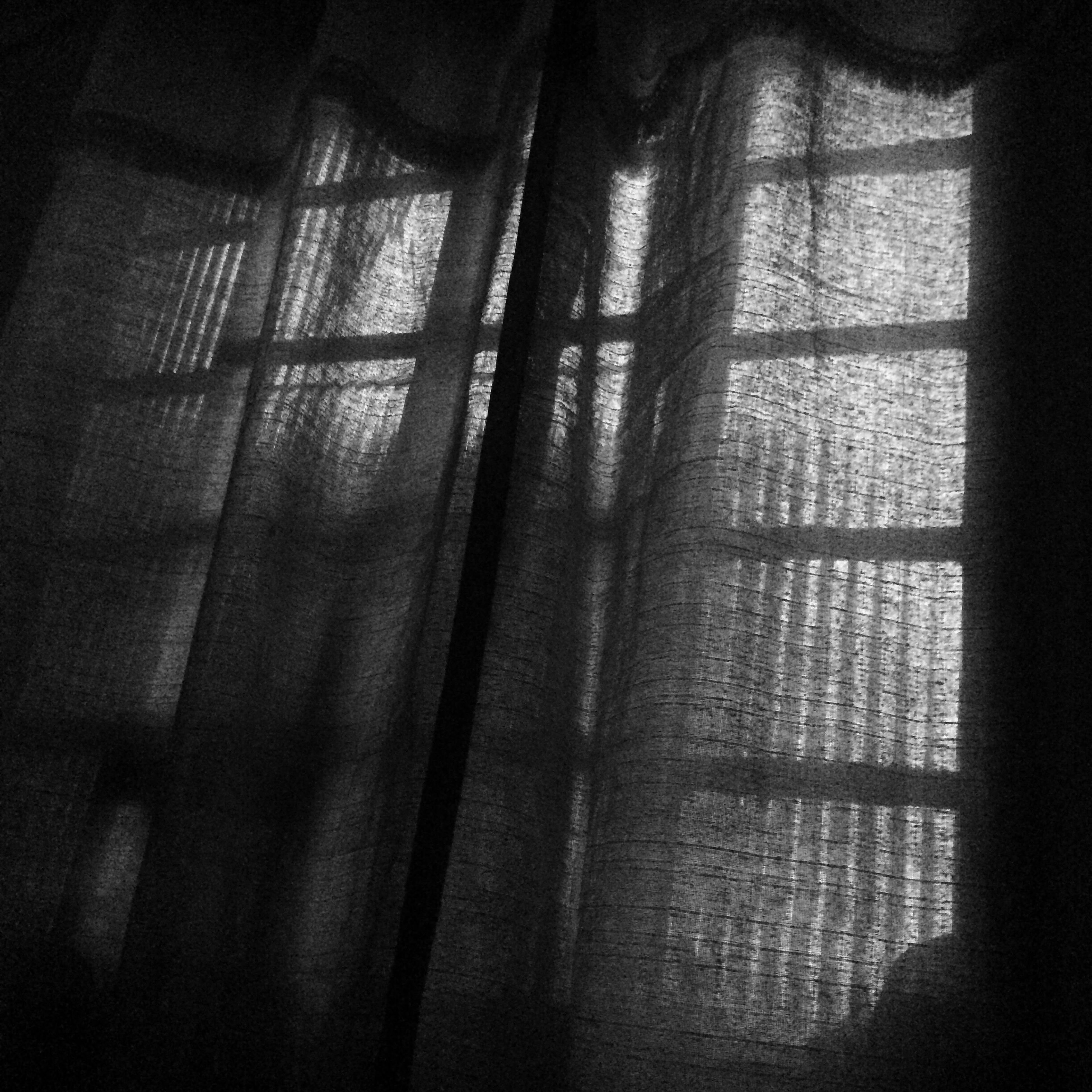 indoors, window, full frame, backgrounds, curtain, fabric, window frame, messy, no people