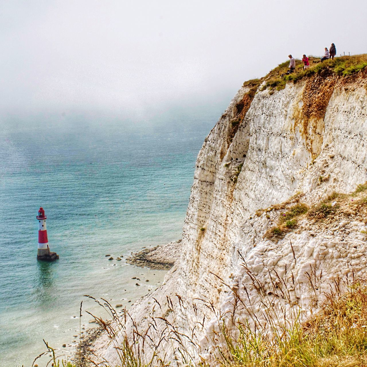 Beachy Head Cliff Eastbourne England United Kingdom Lighthouse Lighthouse_lovers Ocean Ocean View Sea Fog Danger Showcase: January The Tourist Landscapes With WhiteWall Landscape Landscape_Collection The Great Outdoors With Adobe The Great Outdoors - 2016 EyeEm Awards Original Experiences Miles Away