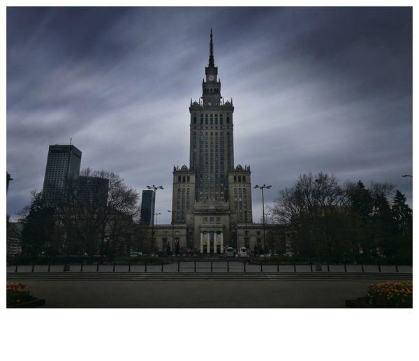 Warszawa  Warsaw Pkin Clouds Clouds And Sky Long Exposure
