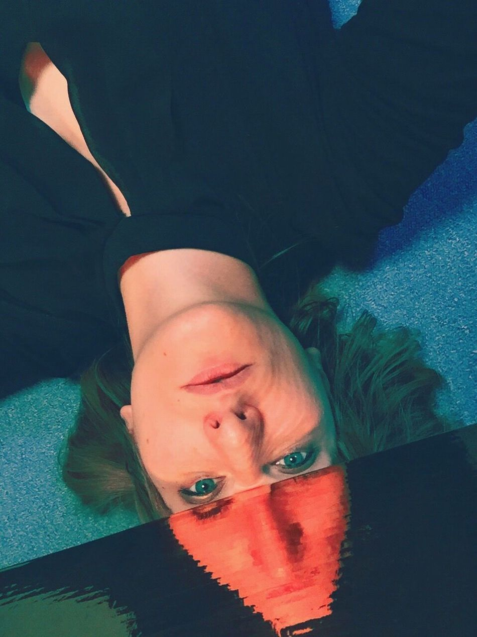 Self Portrait Portrait Female Iphonography Iphoneonly Mirror Mirror Effect Mirrorselfie Direct View Afterparty Lying On The Floor Filtered Image Face