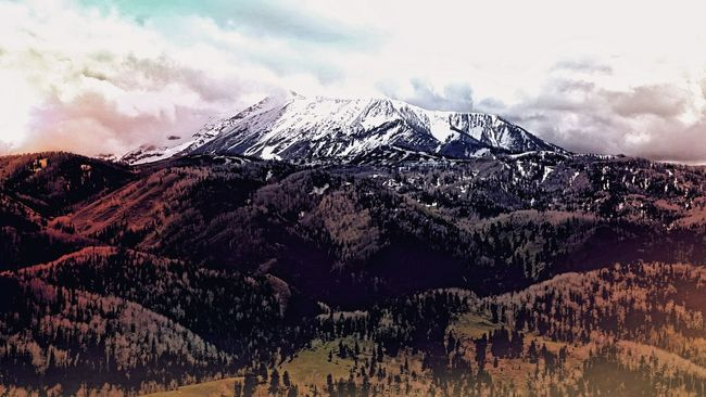 Snow Capped Mountain Scenic Drive Utah Scenery Nebo Loop Scenic Byway Bald Mountain
