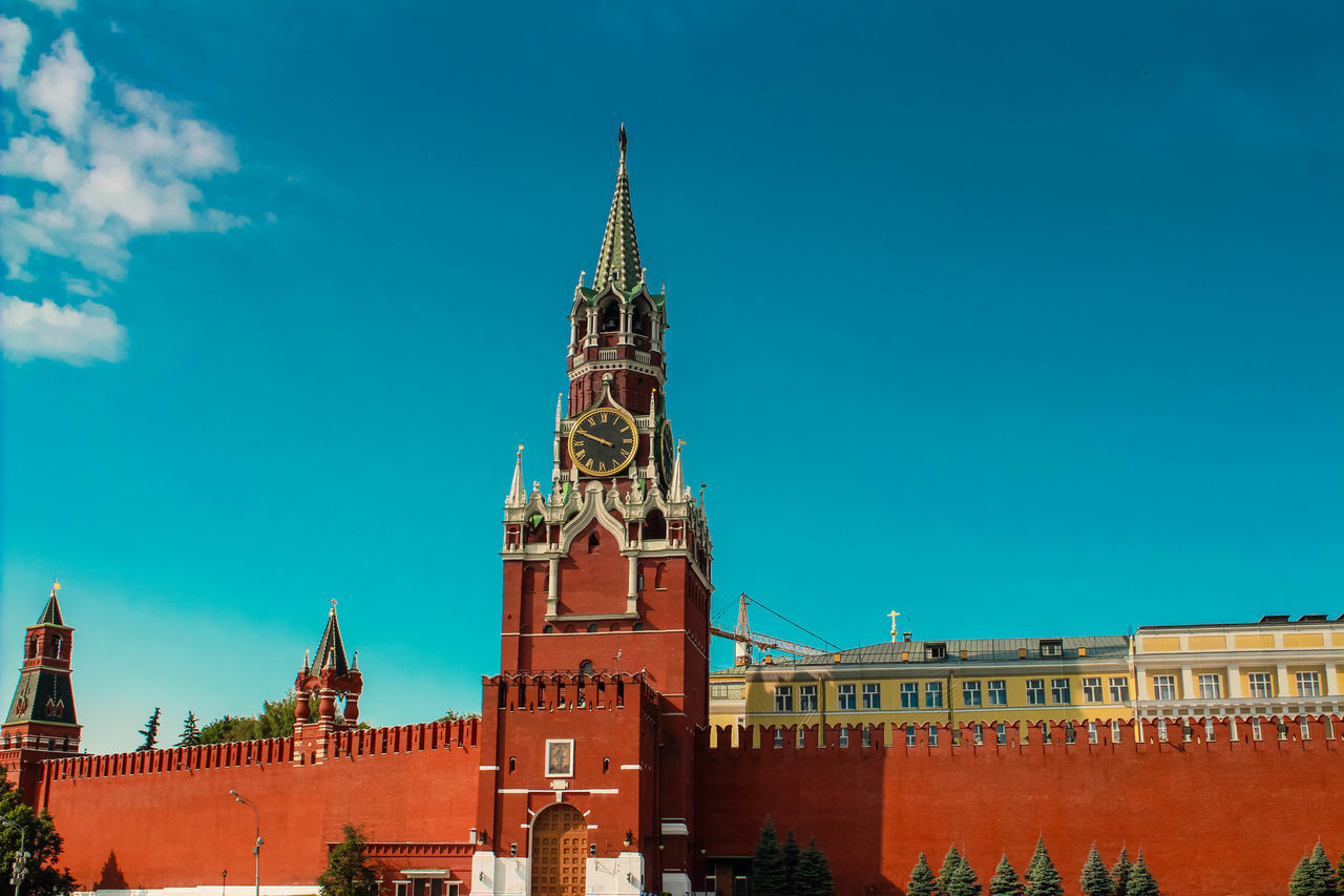 Beautiful stock photos of moscow, Architecture, Blue, Building Exterior, Built Structure