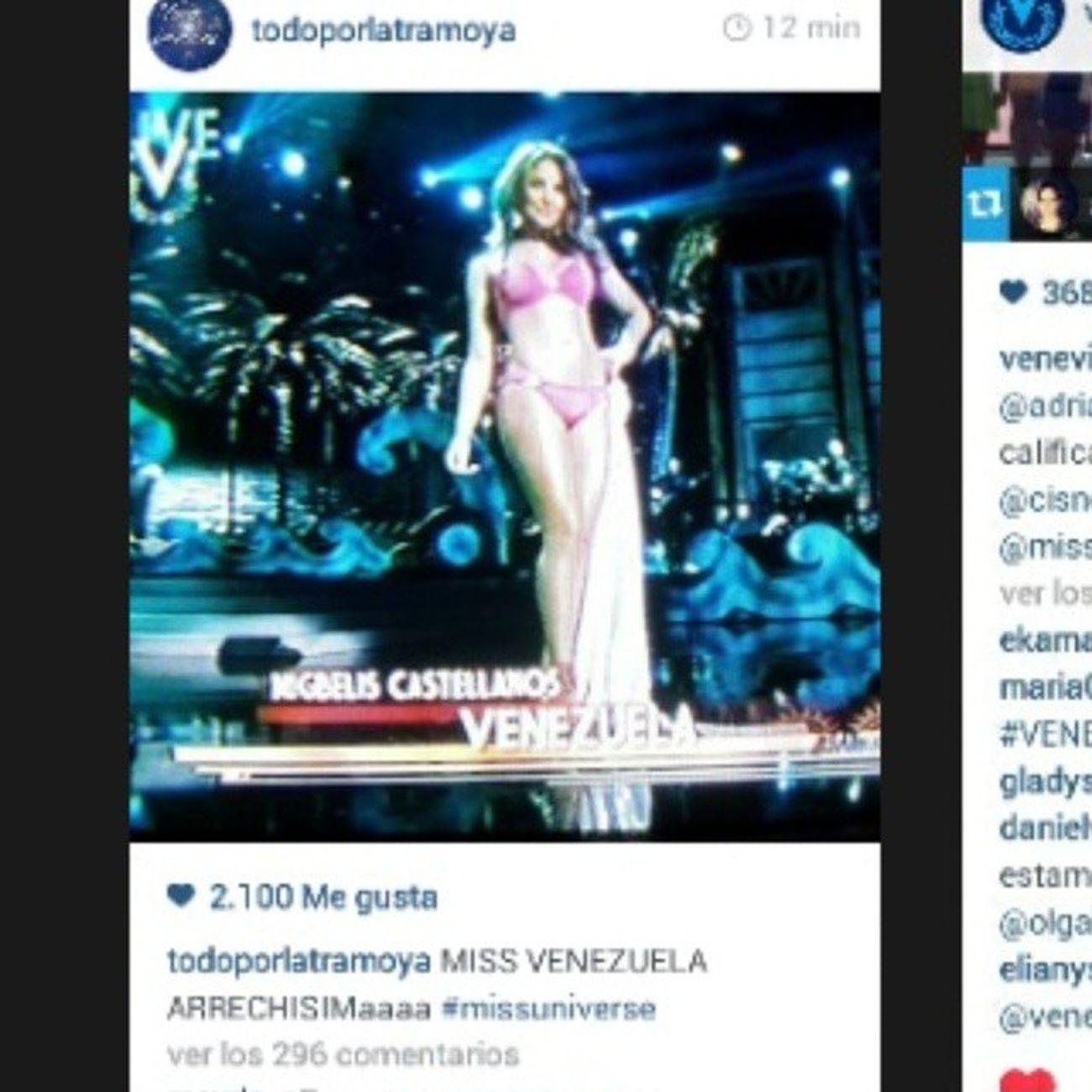MissUniverso 💅👑 @milynette Arriba Venezuela