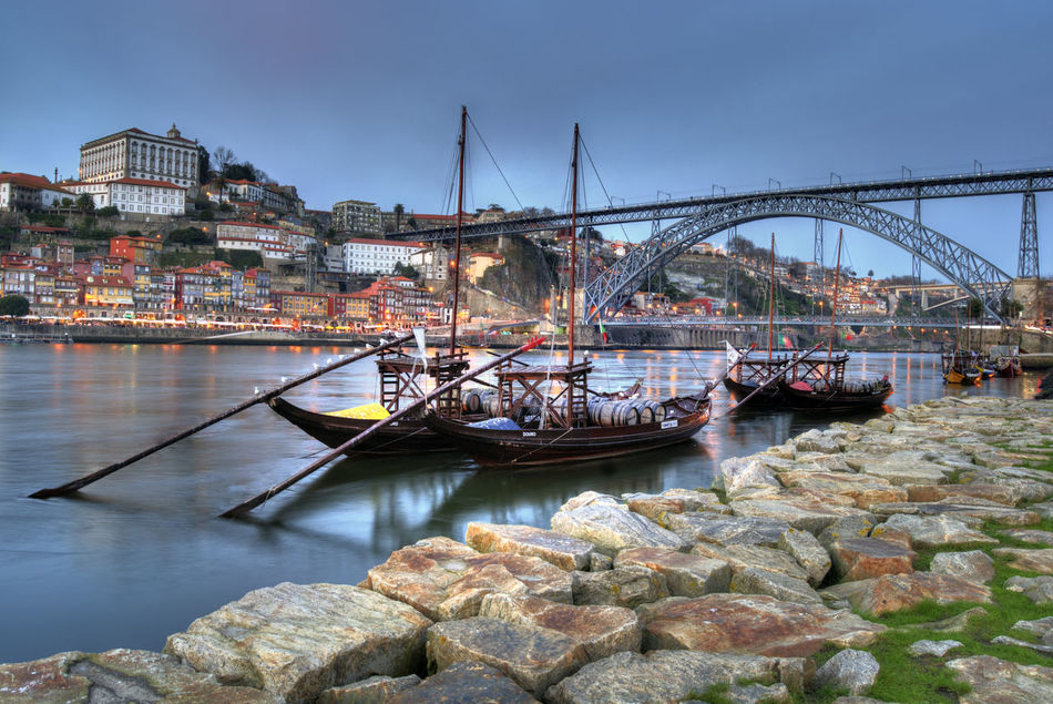 From Porto with Love Architecture Best Destination Bestoftheday Bridge Bridge - Man Made Structure Building Exterior Built Structure City Connection Day Douro  Douroriver Garden Nature Nautical Vessel No People Outdoors Porto Portugal River Sky Transportation Travel Destinations Water Waterfront