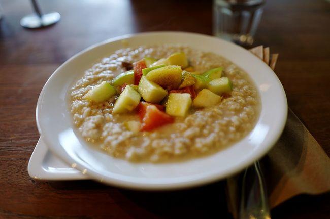 Classic Oatmeal Fruits Breakfast