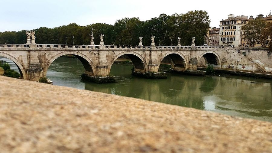 Rome Italy Pont Sant'angelo Travel Destinations Architecture Connection Outdoors Arch Reflection River Tourism City Water Landscape Vacations
